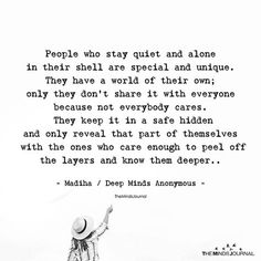 People Who Stay Quiet And Alone In Their Shell