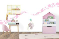 Soft Pink Polka Dot Wall Stickers