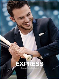 Kris Bryant puts on a bright smile for Express' fall-winter 2016 advertising…