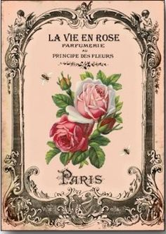 les roses de provence decoupage paper - Pesquisa Google