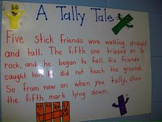Nice poster for helping kids learning about tally marks for counting.