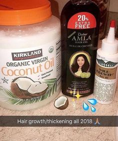 I need to find that amla oil ! I made a growth oil a few minutes ago & im trying it out tomorrow & gonna be using it daily since I have braids.we'll see how this goes 🙃🙃🙃🙃 (no coconut oil was used) Natural Hair Growth Tips, Hair Growth Oil, Natural Hair Styles, Natural Hair Growing, Black Hair Growth, Curly Hair Tips, Curly Hair Care, Black Hair Tips, 4c Hair
