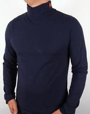 Ellesse Heritage - Modica Roll Neck in Navy Blue / XS-2XL / cotton 80s casual