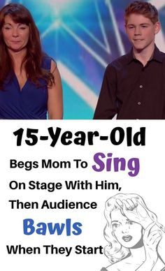 This teen begged his mom to sing onstage with him for this audition, and they have everyone in tears with their stunning performance. Just incredible. Got Talent Videos, Britain's Got Talent, Talent Show, Kids Talent, Singing Auditions, Singing Career, Country Music Videos, Country Music Artists, Country Music Lyrics