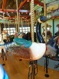 goose/ Bear Mt Carousel, NY - me and my son would go to bear mountain a lot. He always pocked the raccoon to ride on....those were the days.