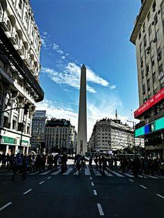 Obelísco de Buenos Aires.