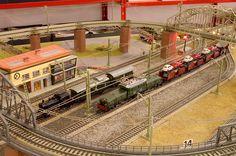 Märklin 3015 running on a vintage layout
