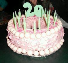 Pink& green cake(: