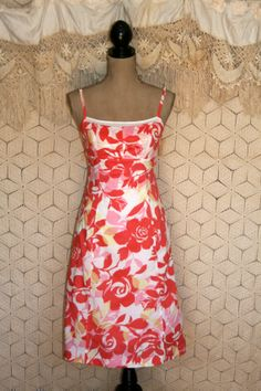 Summer Dress Spring Dress Orange Floral Dress by MagpieandOtis