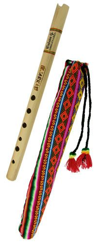 "Bolivia ~""Music washes away from the soul the dust of everyday life."" ~ Berthold Auerbac Whether you play the flute or merely appreciate artisan-crafted musical instruments, the subtle majesty of our Quena Wood Flute is unmistakable. Made with jacaranda wood from certified sustainable sources, each fine piece is performance quality and handmade by master craftsman Carlos in his Bolivian studio. Of a style traditional to South America and with six holes and notched mouthpiece."