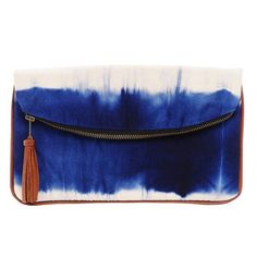 "To ""dye"" for! This is boho clutch would look great with a maxi dress. - bags, bucket, mochilas, pack, moda, gym bag *ad"