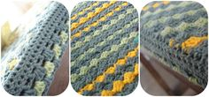 The Lazy Hobbyhopper: How to crochet diagonally - Crochet diagonal box stitch tutorial