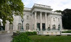 """the Marble House in Newport, Rhode Island.  It was built between 1888 and 1892 as another summer house, or """"cottage"""", for Mr. and Mrs. William K. Vanderbilt. The cost of this house was reported to be 11 million, of which 7 million was spend on 500,000 cubic feet of marble (44 Ochre Point Avenue  Newport, RI 02840)"""