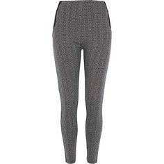 Black herringbone high waisted leggings £25.00 - size 12