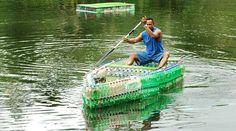 garrafas pet reciclagem  Barco