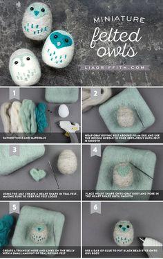 DIY Felt Owls - Lia