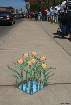 Amazing Street art of David Zinn Sluggo 113 Sidewalk Chalk Art Of Sluggo By David Zinn 3d Street Art, Amazing Street Art, Street Art Graffiti, Street Artists, Graffiti Artists, Amazing Art, David Zinn, Chalk Art Quotes, 3d Chalk Art