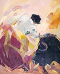 Ruizanglada - Taurino, años 90. Óleo sobre lienzo.  www.Ruizanglada.es  https://www.facebook.com/ruizanglada.pintura