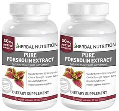 #1 Rated Pure Forskolin Extract-Free Shipping!|TWO BOTTLE PACK!|Pure Coleus Forskohlii Root Standardized to 20%... $29.95