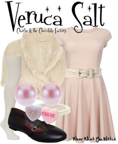 Inspired by Julia Winter as Veruca Salt in 2005's Charlie and the Chocolate Factory.