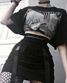 Gothic Outfits, Edgy Outfits, Cute Casual Outfits, Grunge Outfits, Pretty Outfits, Egirl Fashion, Teen Fashion Outfits, Mode Grunge, Grunge Style