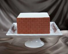 Brick Impression Cake Decorated with Brick Silicone Onlay