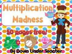 FREE Multiplication Madness 50 pages via Down Under Teacher. This file is a collection of activities and centers/centres to assist in developing the multiplication concept and learning the 2s, 5s and 10s times table facts. 8 activities are included. * Free Elementary Worksheet Printables *