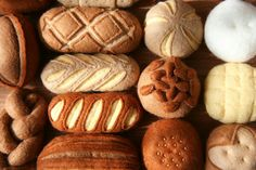 Felt food bread basket rolls pretzels cart twisty bread sesame buns
