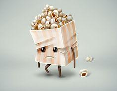 "Check out new work on my @Behance portfolio: ""Sad popcorn"" http://on.be.net/1DMKQ8o"