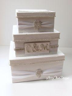 Wedding Card Box Bling Card Box Rhinestone par LaceyClaireDesigns