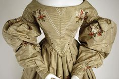 Dress, Met Museum Date: ca. 1836 Culture: British Medium: silk; see another view on this board.