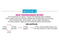 Trainingsplan Woche 3