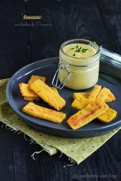 recette panisses aux herbes de provence vegan