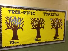 great idea one tree for Top typist in grade, one for grade and one for graders.give certificates during honor roll time. Computer Teacher, Computer Lessons, Computer Class, Technology Lessons, Computer Technology, Educational Technology, Computer Science, Classroom Posters, Classroom Decor