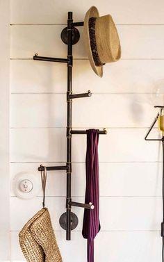Vertical Six Prong Coat Rack – Coat Hanger Design Hallway Coat Rack, Wall Mounted Coat Rack, Wall Coat Rack, Coat Stand Hallway, Coat Hooks Hallway, Diy Coat Rack, Coat Hanger, Coat Racks, Diy Coat Hooks