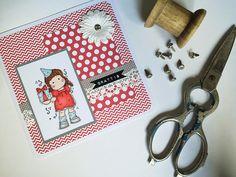 DIY Birthday card with digi stamps