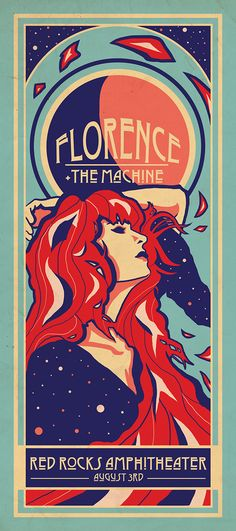 Art Nouveau Florence+ The Machine poster. #art #nouveau #artnouveau #poster #graphic #design #florence+themachine #florence #and #the #machine #florence #welch #florencewelch #alphonse #mucha #illustration #digital #artwork #photoshop