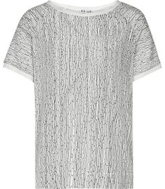 REISS | Paro Print Jersey | silk front, jersey back | round neck, short sleeve top | £89