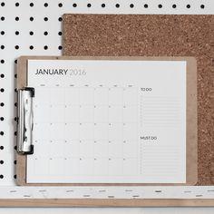 Minimal calendars 2016 (printable) - Hege in France