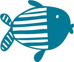 Silhouette Online Store - View Design #11206: striped fish