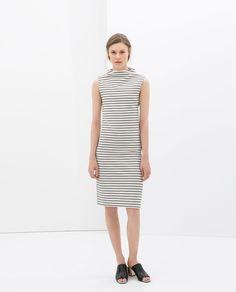 ZARA - WOMAN - STRIPED DRESS. Gorgeous neckline