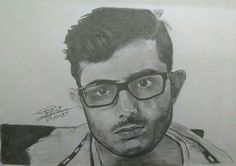 Realistic Carryminati portrait pencil sketch by me... how's it??