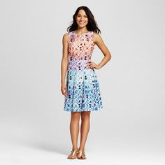 Women's Printed Tank Fit and Flare Dress - Melonie T : Target