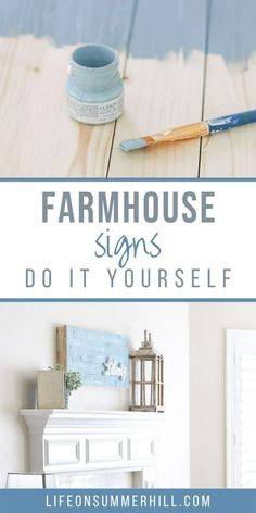 Farmhouse signs DIY. Easy how to make wooden signs with sayings project. This is a DIY project making a rustic shiplap background painted and distress farmhouse fixer upper style sign with wood lettering. Upcycle project from an old canvas frame. Cheap and easy tutorials that will look good in your kitchen, fireplace mantle, front porches, living room, kitchens, master bedroom, bathroom and more. So many lettering ideas to put on this piece. Craft Projects For Adults, Diy Projects To Try, Farmhouse Signs, Farmhouse Decor, Fall Mantle Decor, American Flag Decor, Wooden Signs With Sayings, Lettering Ideas, Patriotic Decorations