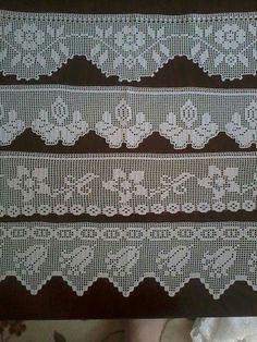 Crochet Kitty - Gorra dos agujas Punto Ingles para Adulto Hombre o Mujer Sie es für Sie Schal Filet Crochet, Crochet Lace Edging, Crochet Motifs, Crochet Borders, Cute Crochet, Crochet Doilies, Hand Crochet, Crochet Stitches, Crochet Patterns