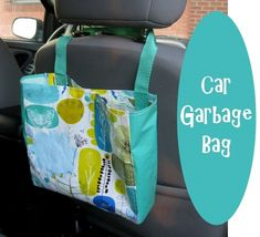 Car garbage bag out of recycling shopping bag