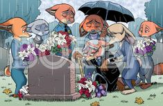 """Commission made for As my first Deviantart user customer, he received a high res version of the last page of my Zootopia fan comic """"I Want. Disney Films, Disney And Dreamworks, Disney Cartoons, Disney Pixar, Zootopia Anime, Zootopia Comic, Triste Disney, Zootopia Nick And Judy, Villainous Cartoon"""