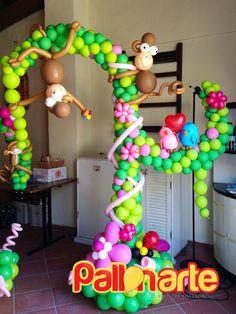 jungle birthday balloon decoration