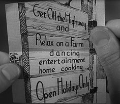 business card from 1942's Holiday Inn #oldmovies