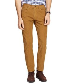 BROOKS Brothers CORDUROY Pants 40 32 COPPER Brown MENS Size COTTON Preppy CASUAL…